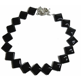 Square of Darkness - extravagante Achat Kette / Collier - L44+6